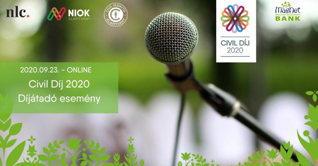 Civil Díj 2020 - Díjátadó esemény